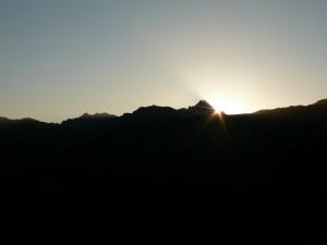 Wschód słońca nad Świnicą